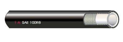 1A Thermoplastischer HD-Schlauch SAE 100R8
